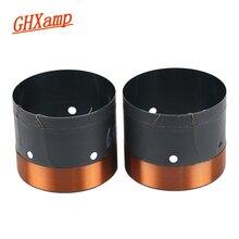 Bobine de voix basse GHXAMP 65.5 Core en aluminium noir avec trou de sortie dair sonore pour haut parleur de Subwoofer de 10 pouces à 15 pouces 6.2 OHM