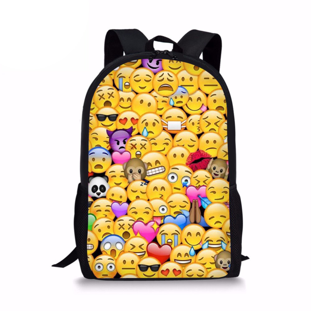 Funny Emoji Face Bag Printed Children Primary Schoolbag Kids Kawaii Book Bags Boys Girls Teen School Bag Mochila Escolar