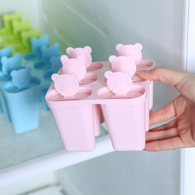 BF040 Creative Lovely DIY bear Popsicle mold ice cream mold The sector model ice mold 12 10 2 8cm free shipping in Ice Cream Tubs from Home Garden