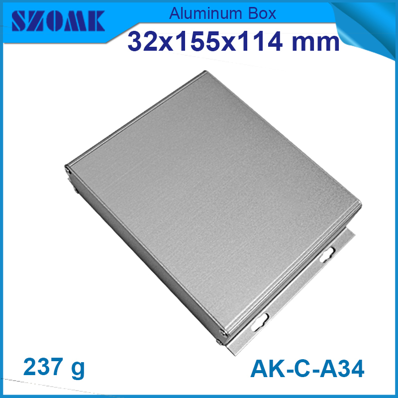 4 pcs/lot szomk New arrive aluminum enclosure pcb electronic project junction box case szomk electronic project enclosure junction box 1 pcs 260 220 80mm plastic box enclosure desktop electric distribution box
