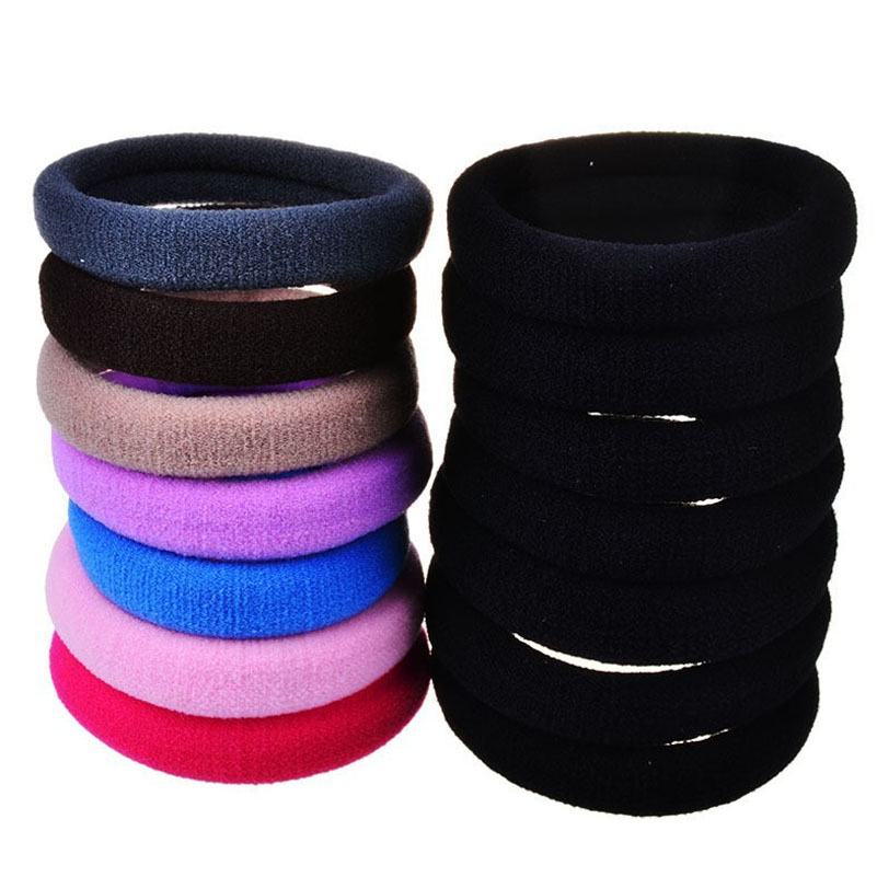 Lots 20 Pcs Candy Fluorescence Colored 4cm Hair Holders Rubber Hair Bands Hair Elastics HairBand Accessories Hair Tie