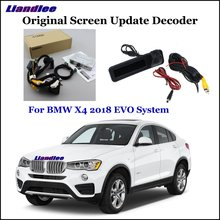 Liandlee Car Original Screen Update System For BMW X4 F26 G02 2018 EVO Rear Reverse Camera Digital Decoder Display Plus