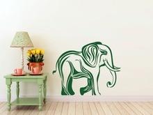 Africa Jungle Animal Elephant Wall Decal For Kids Rooms Hindu God Ganesha Elephant Pattern Interior Home Decor Art Mural  SYY682 цена