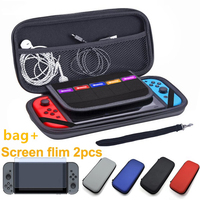 screen film HobbyLane 2 PCS Tempered Glass Screen Protector+ Carry Bag For Nintend Switch Protective Film Cover For N-Switch Accessories d15 (1)