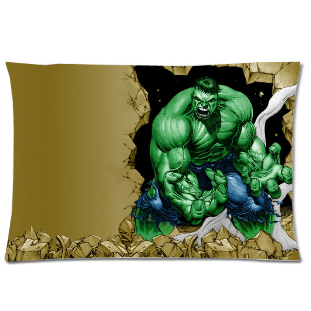 The Incredible Hulk Design Rectangle Polyester Pillow Case Soft Decorative Cover For Home Bed Seat Festival Gift 50x75cm