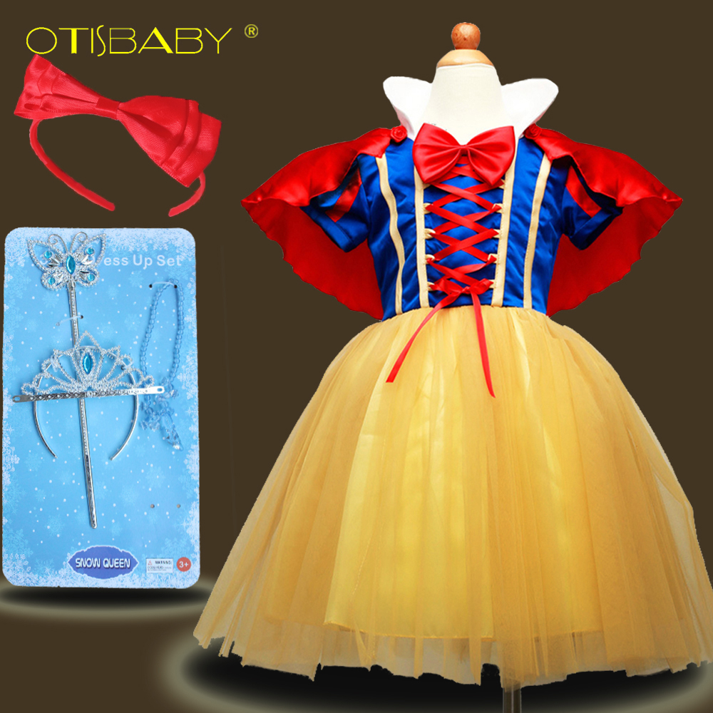 Children Snow White Costume for Kids infant Ball Gown Elegant Girls Tulle Princess Party Dresses Clothing Baby Girl Deguisement