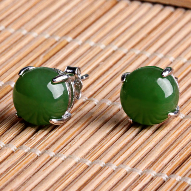 Natural and nephrite jade pendant earrings jewelry earrings egg natural and nephrite jade pendant earrings jewelry earrings egg surface inlaid jade teardrop shaped earrings aloadofball Image collections