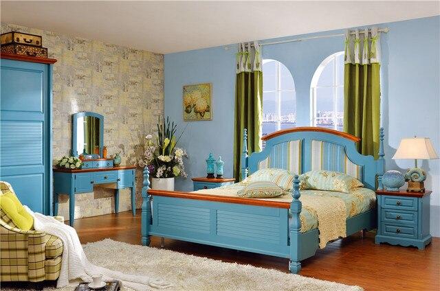 Muebles de dormitorio cama de madera setcama de casa armario moderno ...