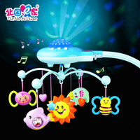 Baby Crib Toys Bell Star Hanging Sleep Infant Bedding Baby Play Activity 50 Music Light Flash Toy Set Hanging Rattle Gift