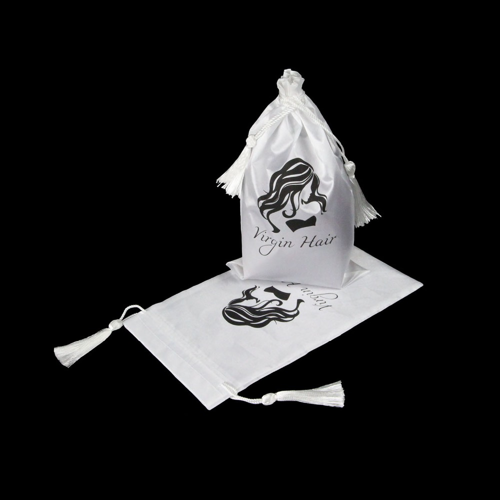 5 stuks witte maagd haar verpakking zak met koord, haarverlenging - Home opslag en organisatie - Foto 2