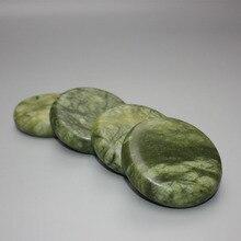 4 шт. 7*7 см natrual гидромассажная Зеленый мраморный камень эфирное масло массаж пород вулканический камень энергии для массаж тела
