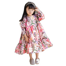 Celveroso Girls Floral Dresses Children Long Sleeve Princess Dress Spring Summer Baby Clothes dress for girls