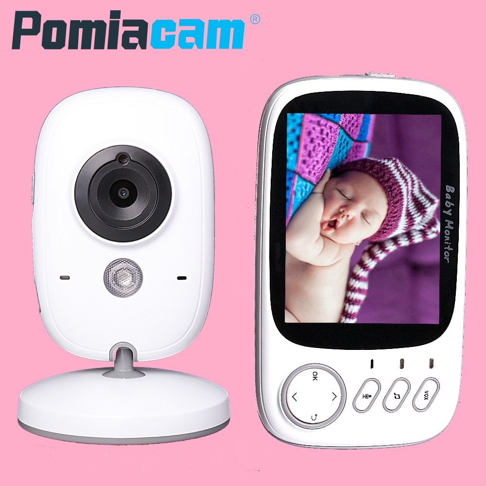 3.2 inch 2.4G Wireless Video Color Baby Monitor VB603 Baby Nanny Security Camera 2 Way Talk Night Vision Temperature Monitoring