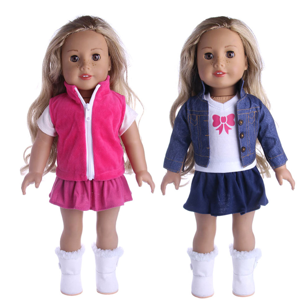 Baby Girl Doll Clothes Toys 3Pcs Dress Outfits Pajamas/Cowboy Suit for 18 inch American Girl Doll Accessories Girl Best Gift american girl doll clothes halloween witch dress cosplay costume for 16 18 inches doll alexander dress doll accessories x 68
