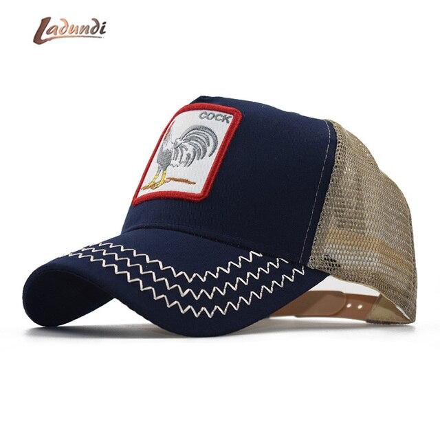6355916fe8d ummer Animal Baseball Cap Embroidery Mesh Cap Hats For Men Women Snapback  Gorras Hombre hat Casual Hip Hop Cap