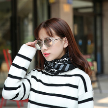 1 PC Fashion New Women Spring Autumn Causal Beanies Scarf Star Letter Pattern Female Warm Hat Caps 3 Usages Headwear