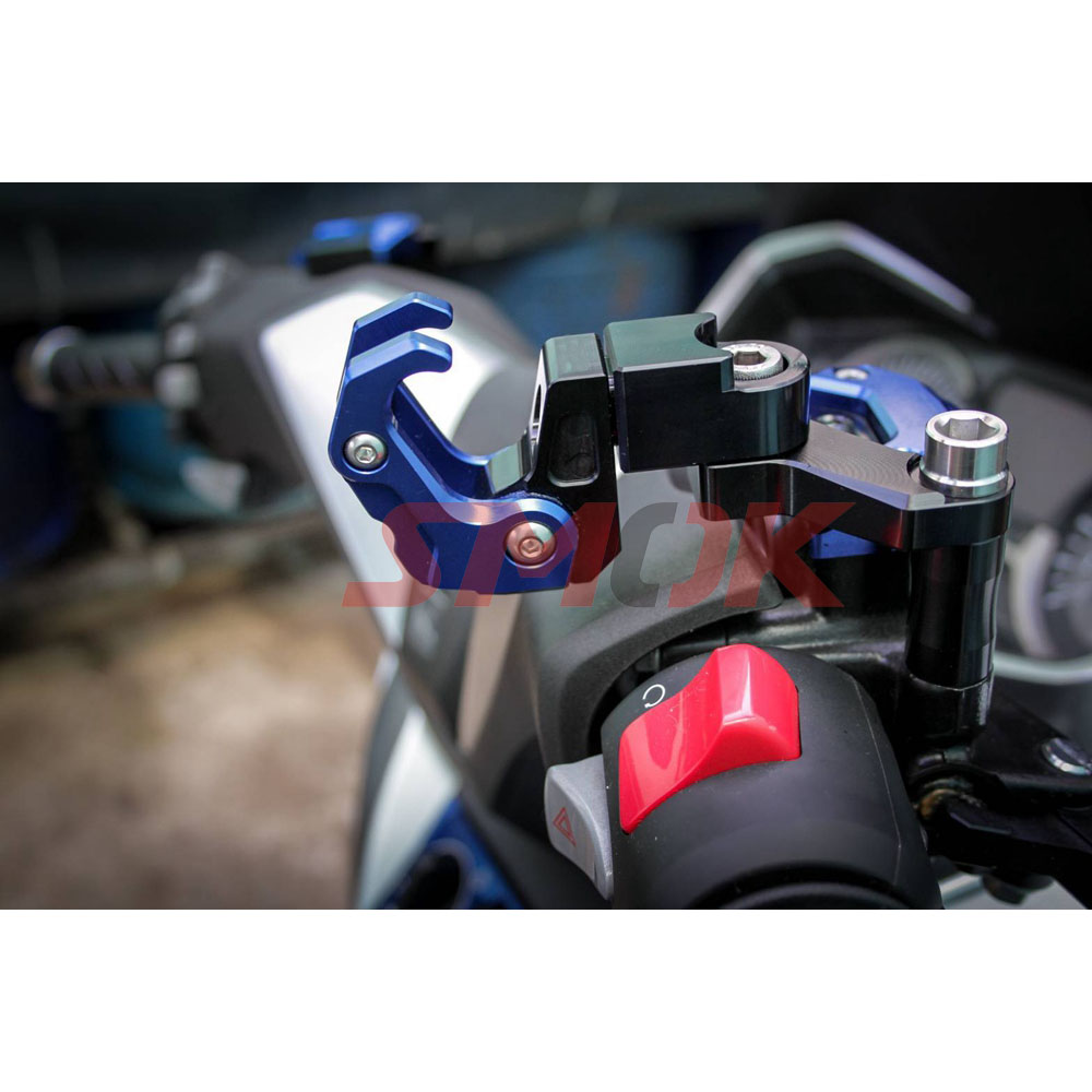 SMOK Motorcycle Accessories CNC Aluminum Alloy Folding Hanger Hook For Honda All New Forza 300 2018 (4)