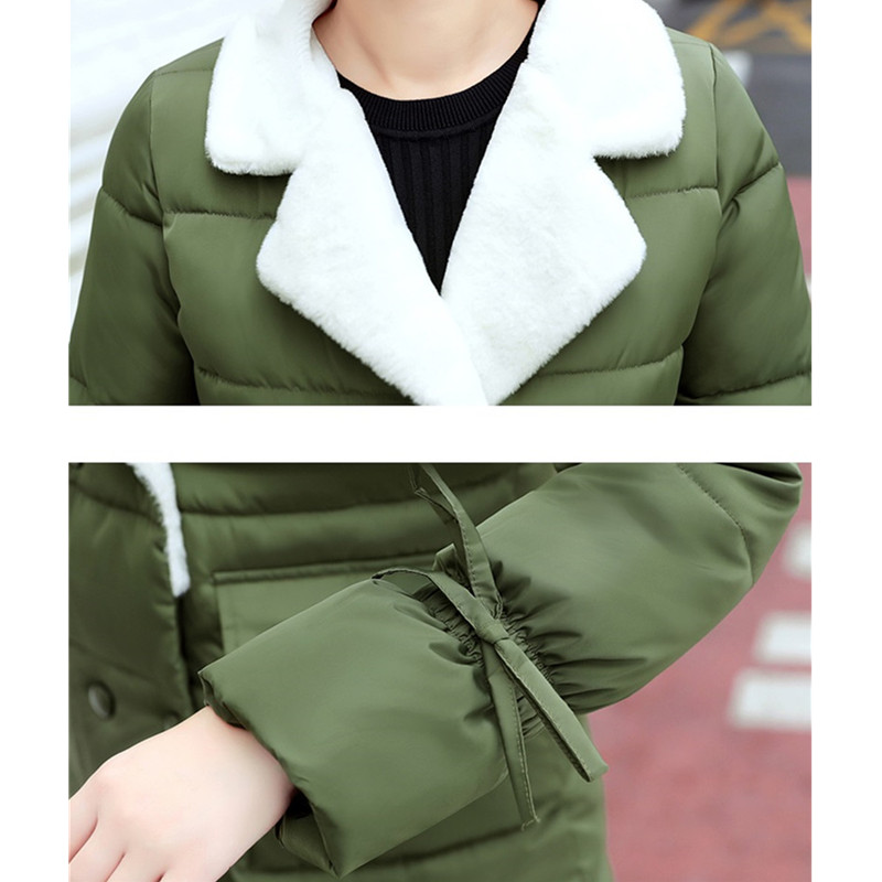 Female Cotton Jacket Winter Outerwear gray Windproof Blue Parka Coats pink Women armygreen Warm Ioqrcjv black Cotton 2018 S148 padded Down Jackets Slim Long yellow dZIYqYw5