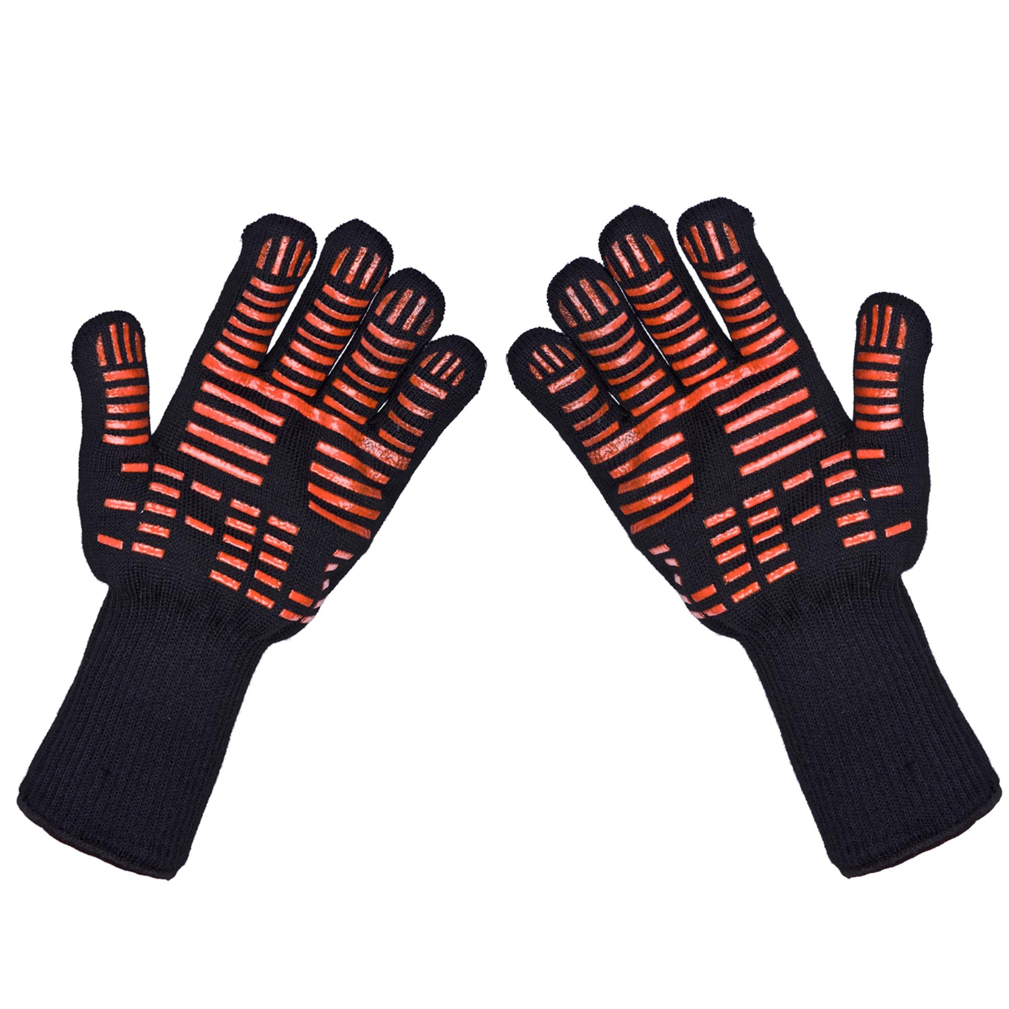 TTLIFE Heißen Ofen Mitts Handschuhe BBQ Grillen Kochen Handschuhe-932F Extreme Wärme Beständig Handschuhe Lange Für Extra Unterarm Schutz
