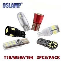 Oslamp 2pcs/Pack T10 W5W 194 Led Car Signal Lamp White T10 L