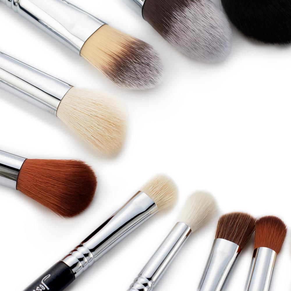 Jessup escovas 27 pçs pro conjunto de escova de maquiagem fundação olho rosto sombra batons pó mistura beleza escovas kit t133 - 4