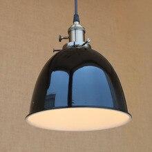 Moderno 4 Industrial Loft colgante de color blanco/negro de la lámpara colgante E27 AC 110 V 220 V LED barra de luces con el interruptor Para La Cocina café