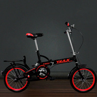 Adult One Folding Bike 16 Inch Men and Women Ultra Light Portable Speed Student Shock Absorption Damping Bicycle