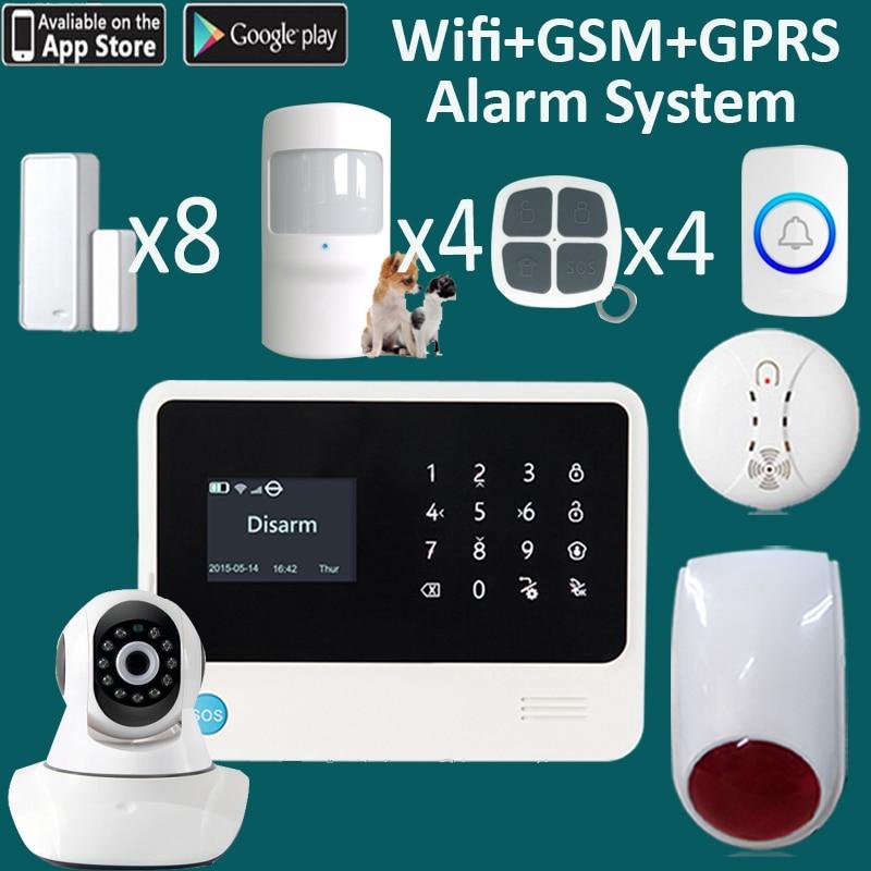 2018 version G90B PLUS bigger screen 7 languages wifi IP camera alarm system