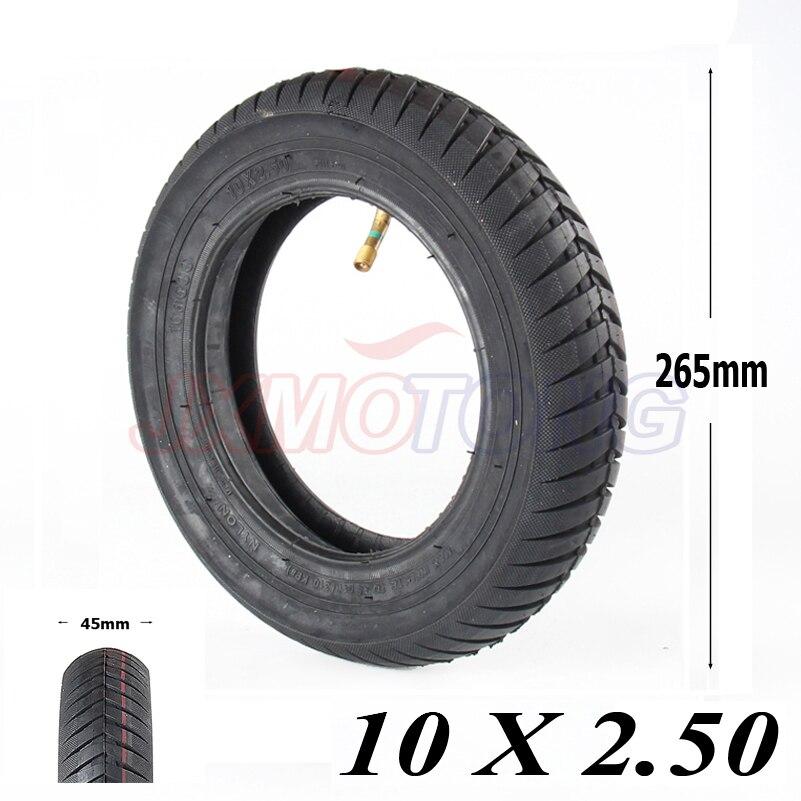 Hohe qualität 10 zoll Pneumatische Reifen für Elektrische Roller Dualtron und Speedway 3 mit innenrohr 10x2,5 aufblasbare reifen