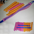 Plastic hair rollers curlers length 45/55cm medium size hair curlers with 1set(2pcs)hooks,hair styling tools