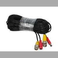 BNC Video Power Siamese Cable 65ft 18m 20m For Analog AHD CVI CCTV Surveillance Camera