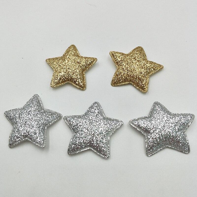 20 шт. см 3,3 см Kawaii мягкий блеск звезда нашивки блестящие аппликации для одежды Вышивание поставки DIY Craft украшения