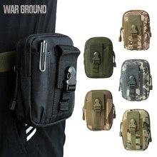 купить Molle tactical pockets casual running belt bag sports running bag waterproof mobile phone bag outdoor camouflage hunting bag онлайн