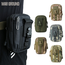 WAR GROUND Tactical Belt Waist bag Molle Hunting Pouch Camping  Waterproof Mobile Pocket Running Outdoor Small Bag  For Iphone