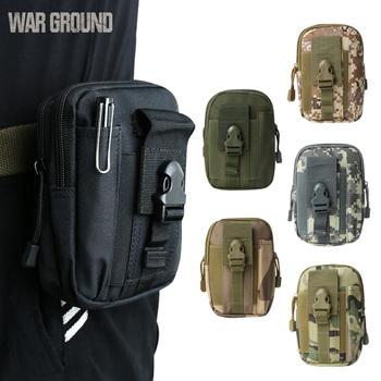 WAR GROUND Tactical Outdoor mała torba kieszenie torba podróżna kempingowa bieganie polowanie wodoodporna mobilna torba kamuflaż na zewnątrz tanie i dobre opinie warground 9815A9303 Unisex Scratchproof and splashproof Miękka 600d