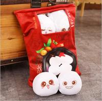 1pc 40cm cartoon sweet dumplings snacks plush pillow cushion eight little round doll stuffed toy girl boy creative gift