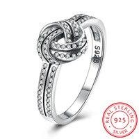 3 Size 925 Sterling Silver Tennis Shape Radiant Elegance Clear CZ Finger Rings For Women Ring