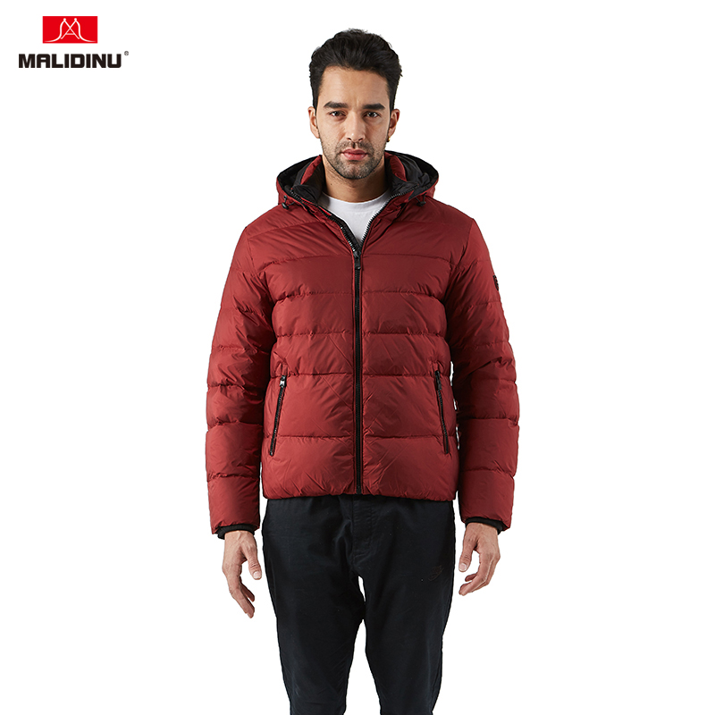 MAZF Winter thiked Warm 90/% White Duck Down Hooded Jackets Men
