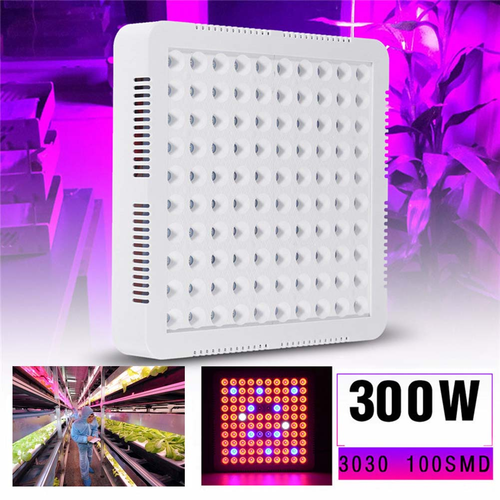 LED Grow Light Lamp 300W Full Spectrum Indoor Veg Flower Plant Panel Horticulture CLH@8 потолочная люстра freya fr5102 cl 04 ch