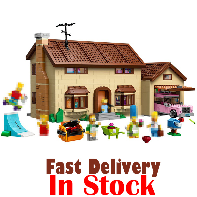 LEPIN 16005 The Simpsons House Classic Movie Building Blocks Bricks Toys For kids brinquedos 2575PCS Compatible legoINGly 71006 lepin movie figures 16005 2575pcs the simpsons house model building kits blocks bricks educational kid toy compatible with 71006