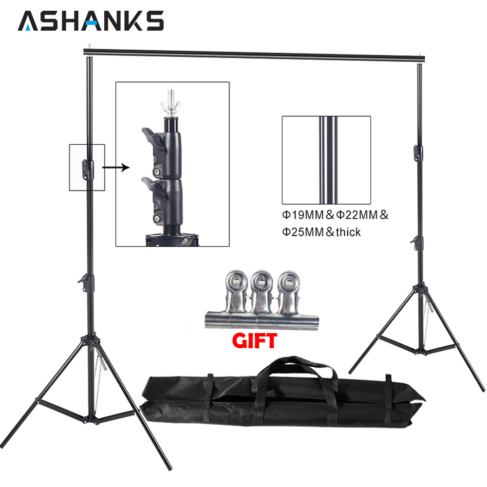 ASHANKS 8.5ft * 10ft Fondo soporte Pro fotografía vídeo foto telón de fondo sistema de soporte para estudio Fotografia con bolsa de transporte