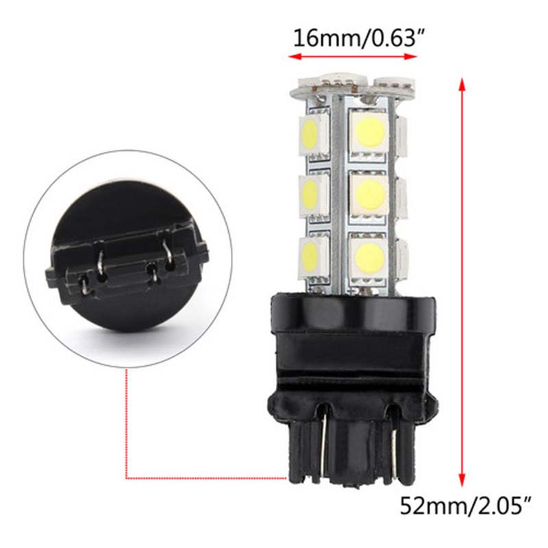 Image 5 - 10X Super Bright White 3157 3156 18 SMD LED Tail Brake Running Light Car Led Light Bulbs T25 4114 Turn Signal-in Car Headlight Bulbs(LED) from Automobiles & Motorcycles
