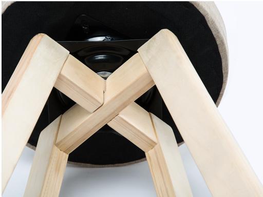 European-style wood retro bar stools simple rotation high bar stool front desk stool