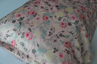 New Free Shipping 100 Pure Silk Oxford Pillowcase Pink Floral Pillow Cover Envelope Back Print High