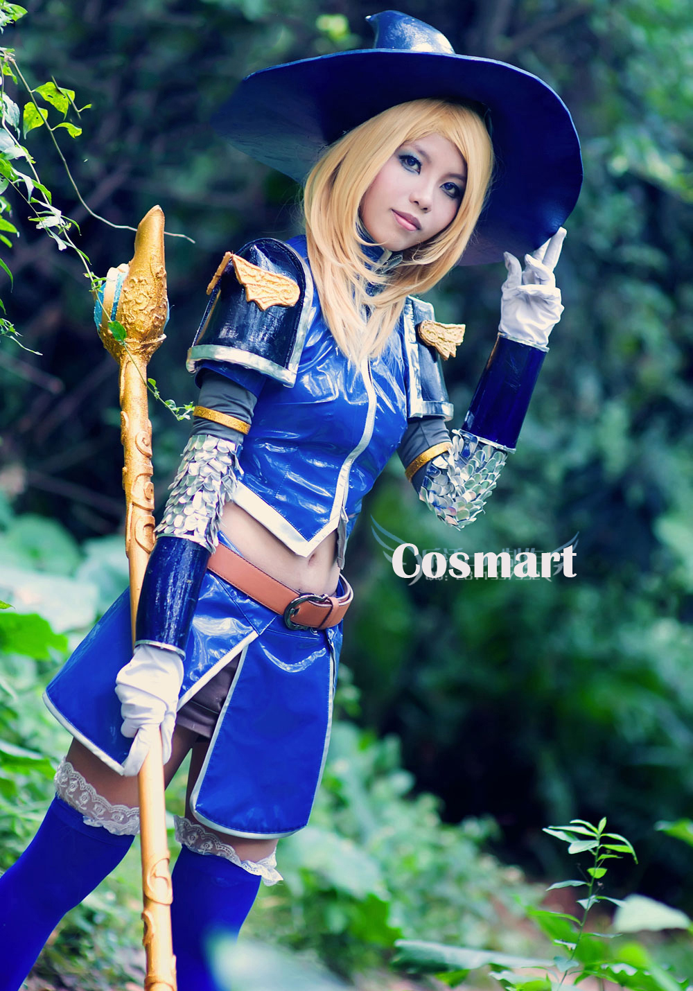 [Customize]Game LOL Mirror PU Made Lux Arcane Brilliance version Uniform +Hat Halloween Cosplay costumes New 2018 free shipping