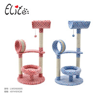 Cat Tree Furniture Pet Climbing Toy Cat Kittens Climbing Tree Easily Assemble Convenient Comfortable Stable Soft
