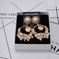 2016 nueva moda discoteca Europea Barroco flor de cerámica retro exageró los pendientes largos pendientes wholesale424