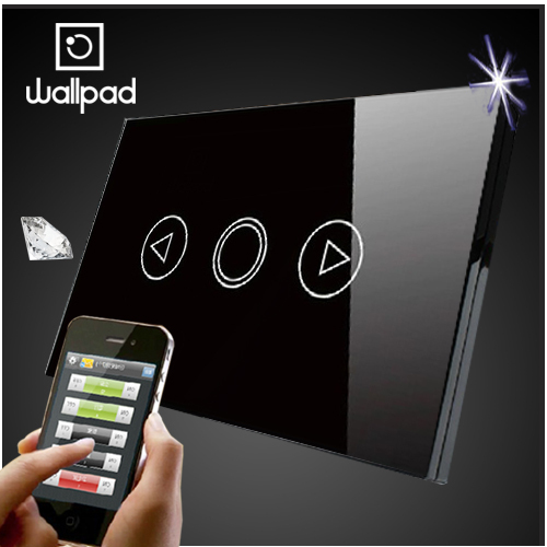 Wallpad 118 US AU Standard Crystal Glass Black Wifi Dimmer Switch,Wireless Remote control wall Dimmer touch switch,Free Shipping 118 us norm 1 gang crystal glass black wifi light switch wallpad wireless remote control wall touch light switch free shipping