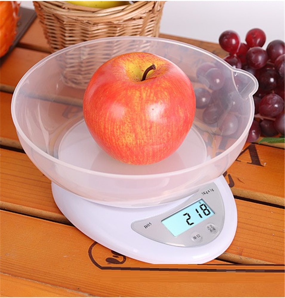 Kitchen 5000g/1g 1000g/0.1g Food Diet Postal Kitchen Scales balance Measuring weighing scales LED electronic scales with tray