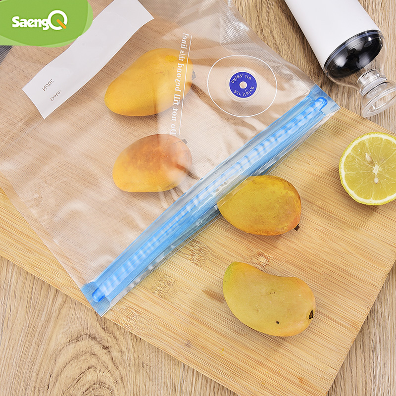 SaengQ Vacuum Zipper Bags Reusable Food Storage Bags Vacuum Bag  For Handheld Vacuum Sealer BPA Free 5pcs Or 10pcs /lot